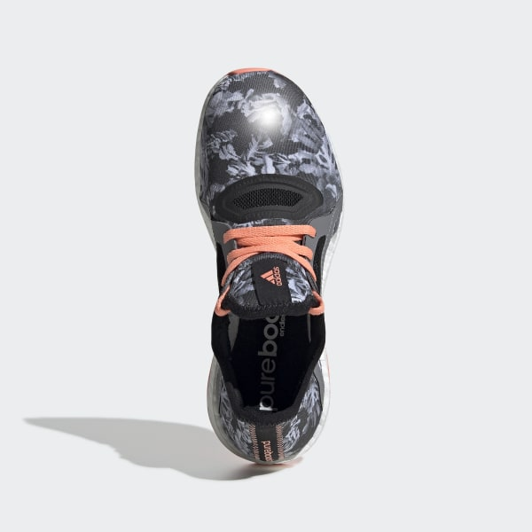 cef209347a453 Pure Boost X Shoes Core Black   Sun Glow   Core Black AQ6690