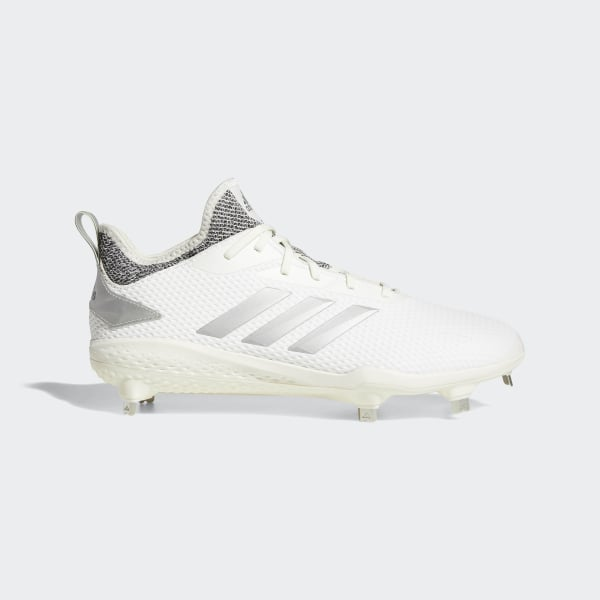 c3353ac65cf Adizero Afterburner V Cleats Running White   Grey   Grey CG5224