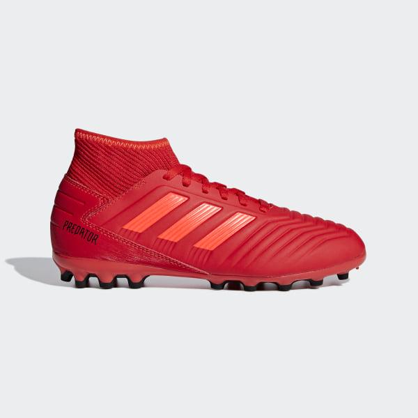 big sale 7fe1c 429f1 Bota de fútbol Predator 19.3 césped artificial Active Red  Solar Red   Core Black D98005