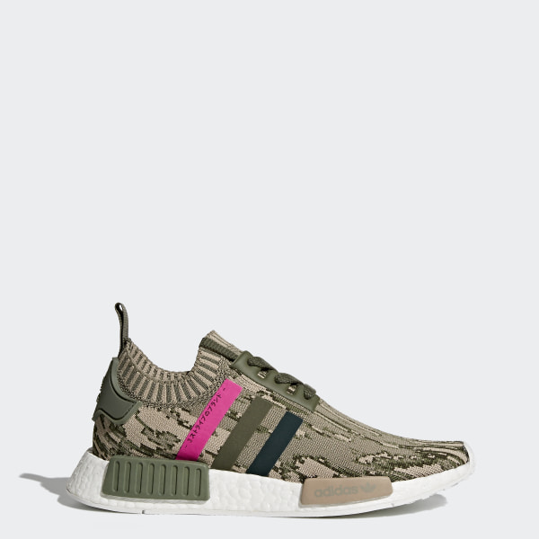 0ec6a1816 NMD R1 Primeknit Shoes Major   Green Night   Shock Pink BY9864