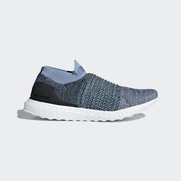 b11a23060 Ultraboost Laceless Parley Shoes Raw Grey   Carbon   Blue Spirit CM8271