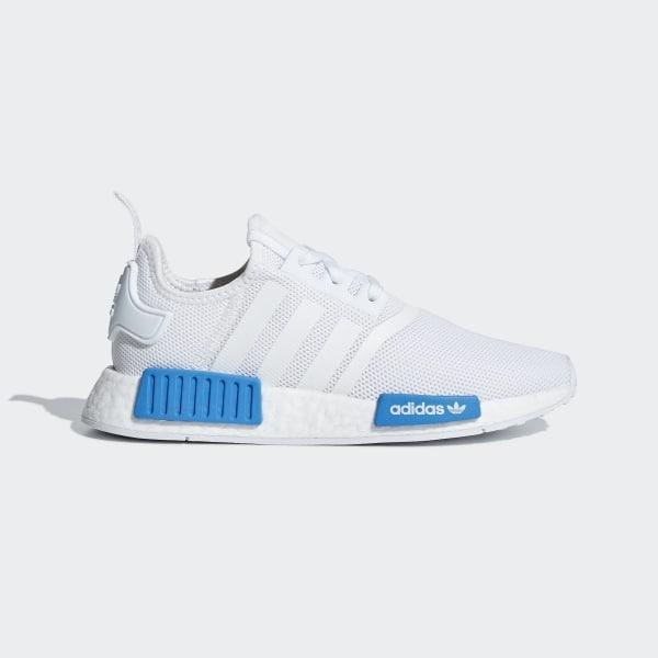 a456a4f6c NMD R1 Shoes Cloud White   Cloud White   Bright Blue AQ1785