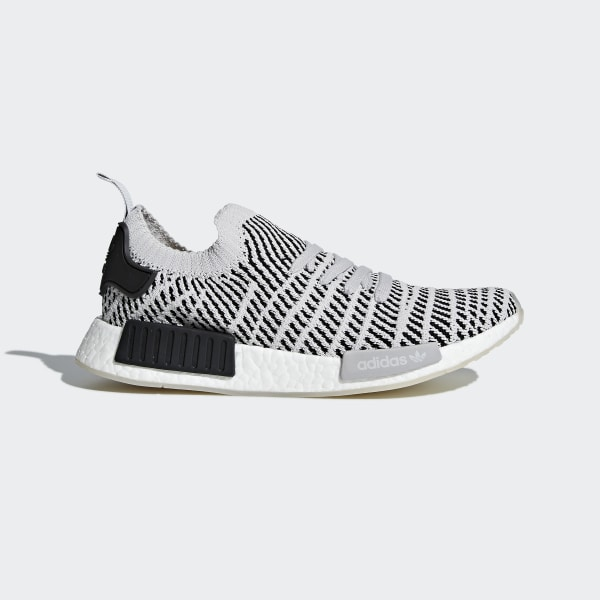 07ec6bd45342c NMD R1 STLT Primeknit Shoes Grey Two   Grey One   Core Black CQ2387
