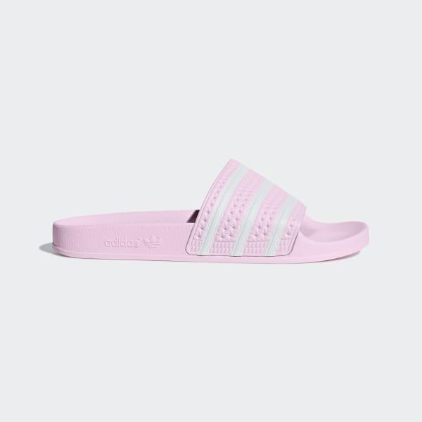 591037728 Adilette Slides Clear Pink   Ftwr White   Clear Pink B37683