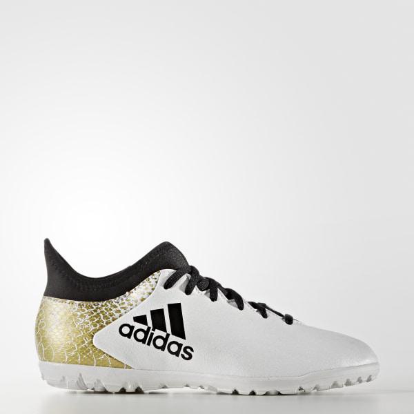 356cc49b25f Calzado Fútbol X 16.3 Turf Junior WHITE CORE BLACK GOLD MET. AQ4353