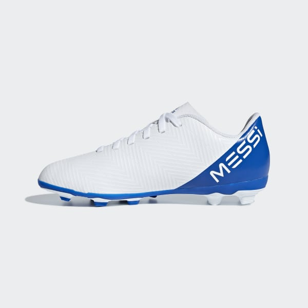 2ca3cec0f5c0f Botines Nemeziz Messi 18.4 Múltiples Terrenos FTWR WHITE CORE BLACK FOOTBALL  BLUE DB2369