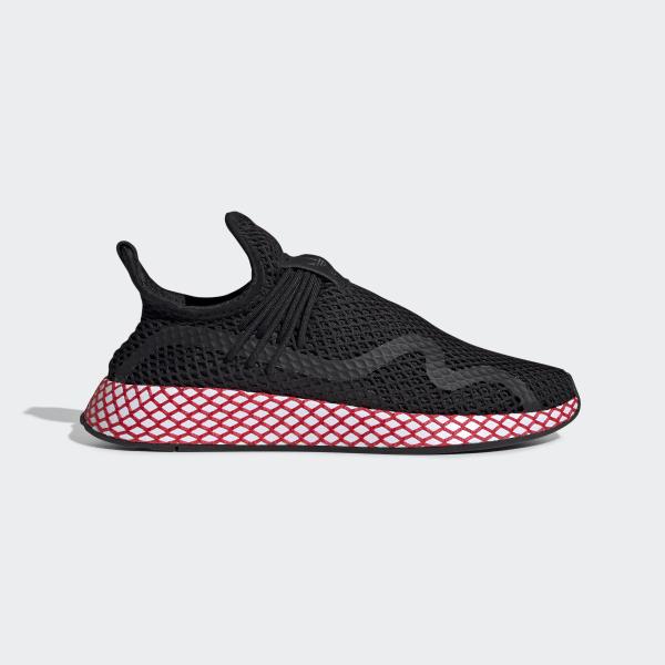 476442159cc8e Deerupt S Runner Shoes Core Black   Shock Red   Ftwr White BD7888