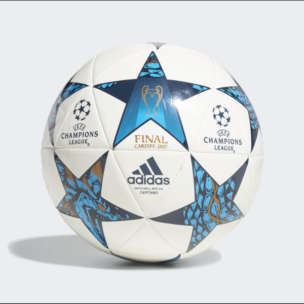 Bola Futebol Final Champions League Capitano WHITE MYSBLU CYAN AZ5204 6c1d37e9b352e