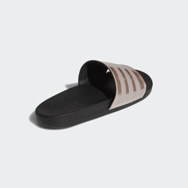 86f03d879 Adilette Cloudfoam Plus Explorer Slides Grey   Grey   Core Black B75679