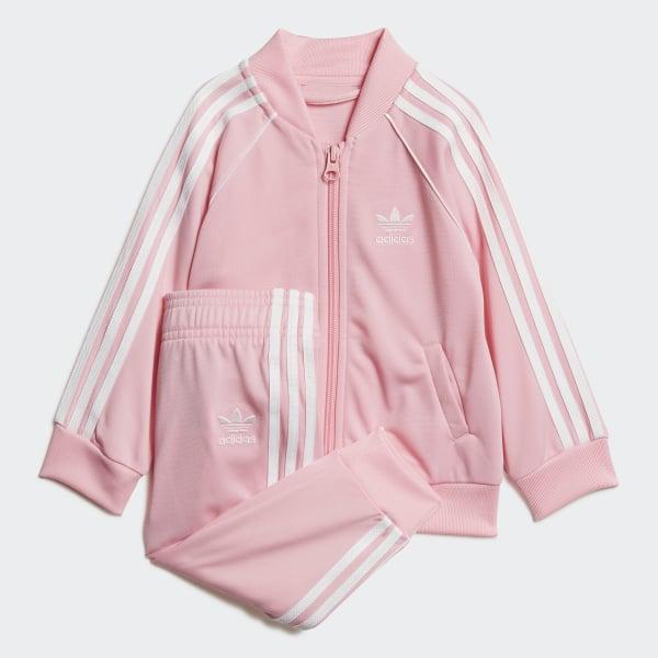 SST Track Suit Set Light Pink   White DV2823 77f5c48ec