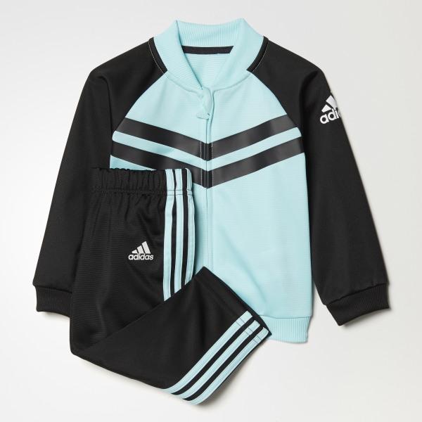 d07bebbdc836b Conjunto Chaqueta y Pantalón de Fútbol Mini Me ENERGY AQUA F17 BLACK WHITE
