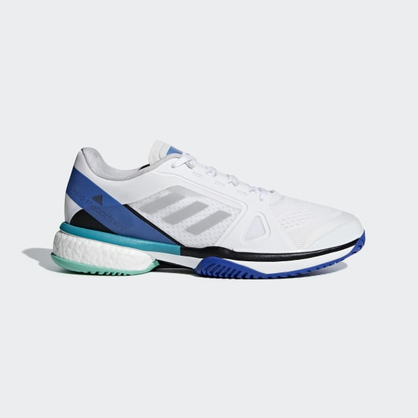 03b360b59f0 adidas by Stella McCartney Barricade Boost Shoes Cloud White   Stone   Ray  Blue AC8258