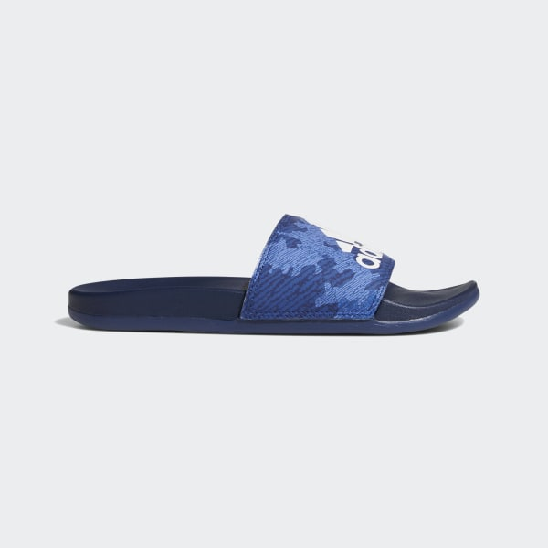 286157cac Adilette Comfort Slides Dark Blue   Cloud White   Dark Blue F34726