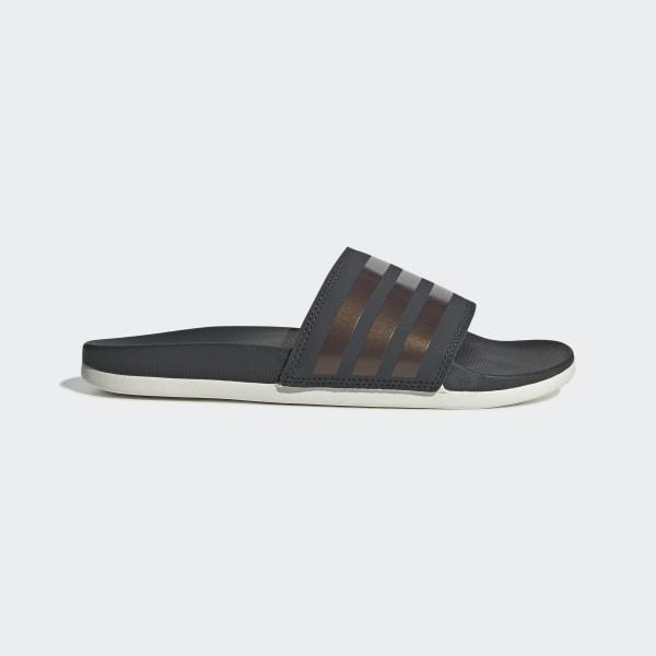 01d2ba076f2 Sandale Adilette Comfort Grey Six   Copper Met.   Raw White F97200