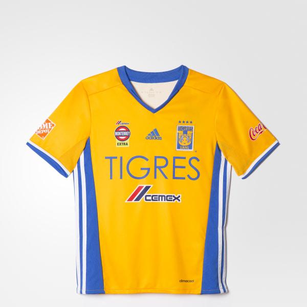 0162d43044fa1 Jersey Local Tigres UANL 2016 2017 Niños COLLEGIATE GOLD BLUE WHITE AP7516