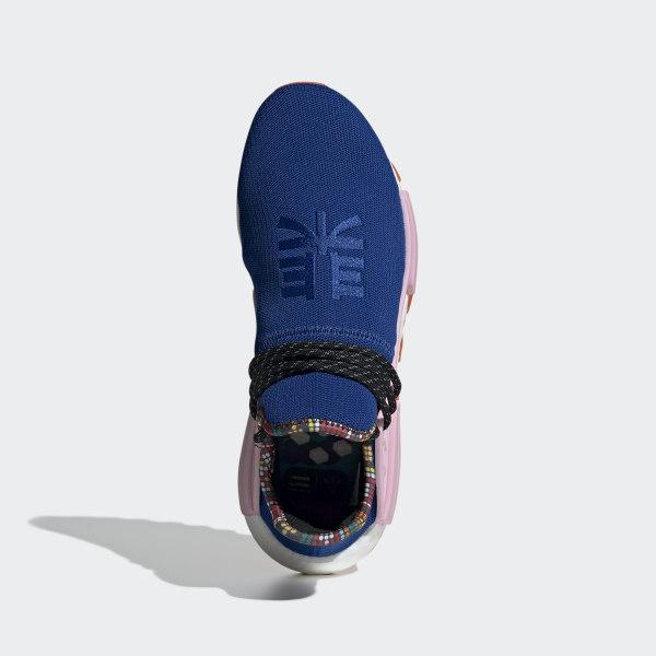 Pharrell Williams SOLARHU NMD Shoes Power Blue   Light Pink   Orange EE7579 66924c9aa9f