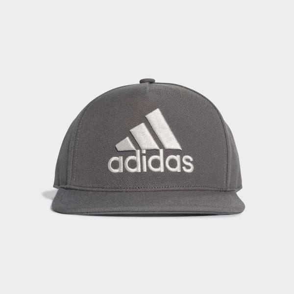 608745095aa05b H90 Logo Hat Grey Six   Grey Six   Raw White DT8579