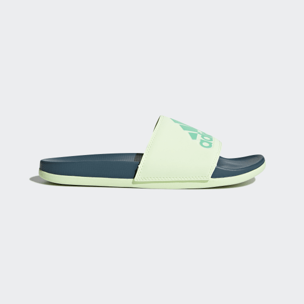 1c99aaf87e5c1c Adilette Cloudfoam Plus Logo Slides Real Teal   Aero Green   Hi-Res Green  CG3429