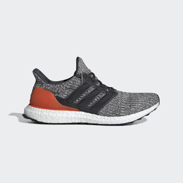 be621e9374213 Ultraboost Shoes Grey   Carbon   Active Orange DB2834
