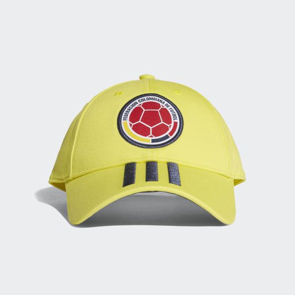 Gorra 3 Rayas Selección Colombia 2018 BRIGHT YELLOW COLLEGIATE NAVY CF5208 8c94e3890cb