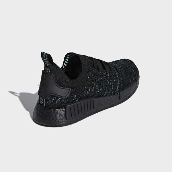 bca556024feed NMD R1 STLT Parley Primeknit Shoes Core Black   Blue Spirit   Eqt Green  AQ0943