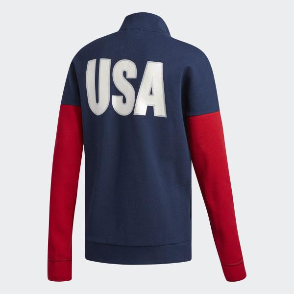 Adidas Usa Volleyball Warm Up Jacket Blue Adidas Us