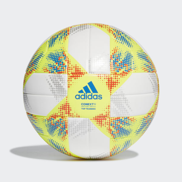 68afb4d5813d8 Conext 19 Top Training Ball White   Solar Yellow   Solar Red   Football  Blue DN8637