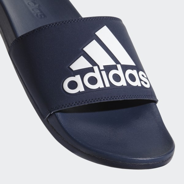 2e44cc96adc4 Adilette Cloudfoam Plus Logo Slides Collegiate Navy   Collegiate Navy    Cloud White AC8329