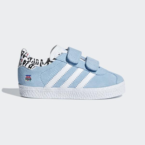 best sneakers ee6e4 13d5a Tenis GAZELLE CF I CLEAR BLUE FTWR WHITE CLEAR BLUE B37216