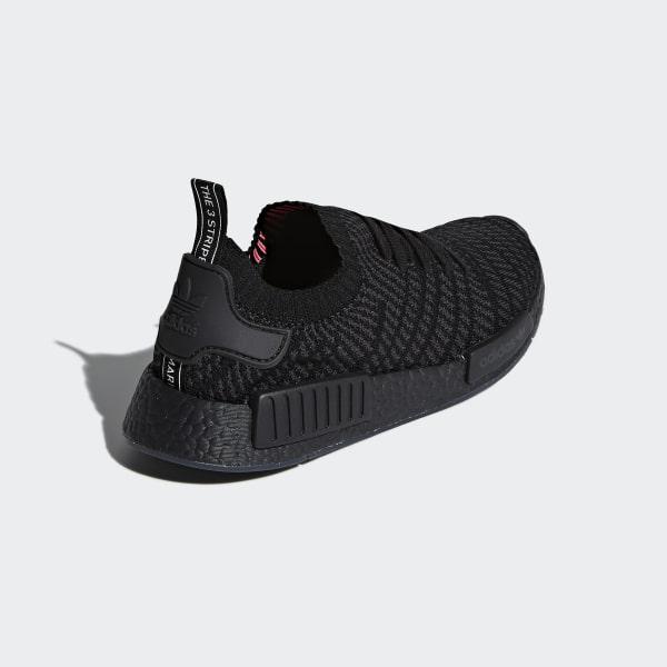 ee41df6bddc3d NMD R1 STLT Primeknit Shoes Core Black   Utility Black   Solar Pink CQ2391