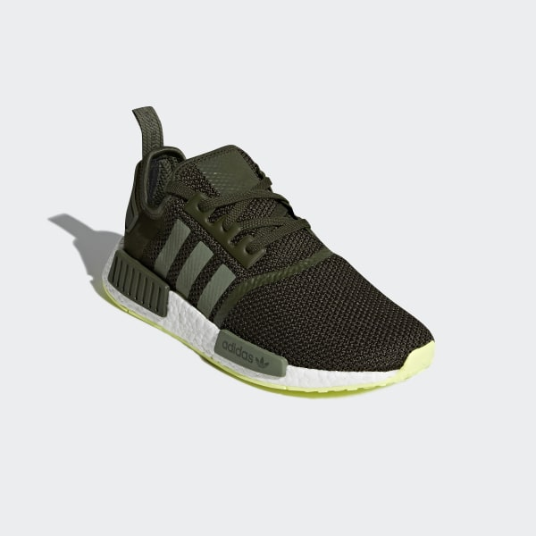 c8448cb46e8d9 NMD R1 Shoes Night Cargo   Base Green   Semi Frozen Yellow CQ2414