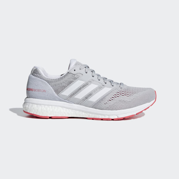 online store b2c45 226fe Adizero Boston 7 Skor Grey Two   Ftwr White   Shock Red B37386