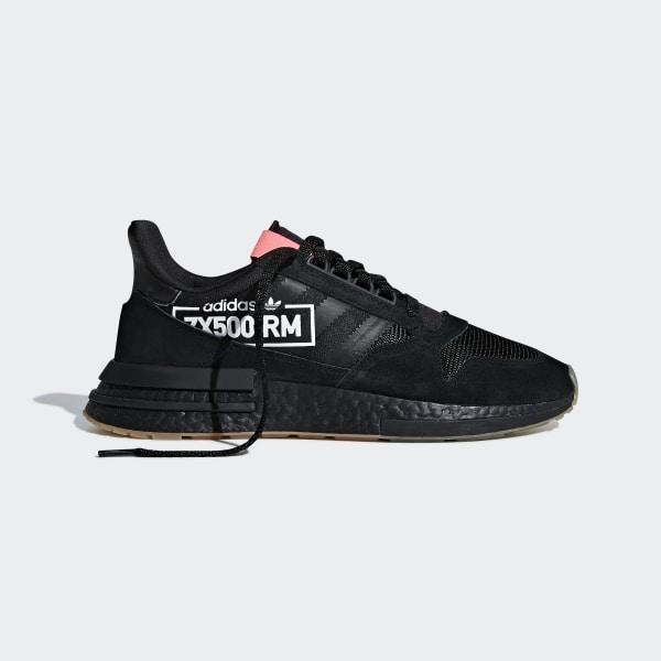 4e8be50ea640 ZX 500 RM Shoes Core Black   Core Black   Flash Red BB7443