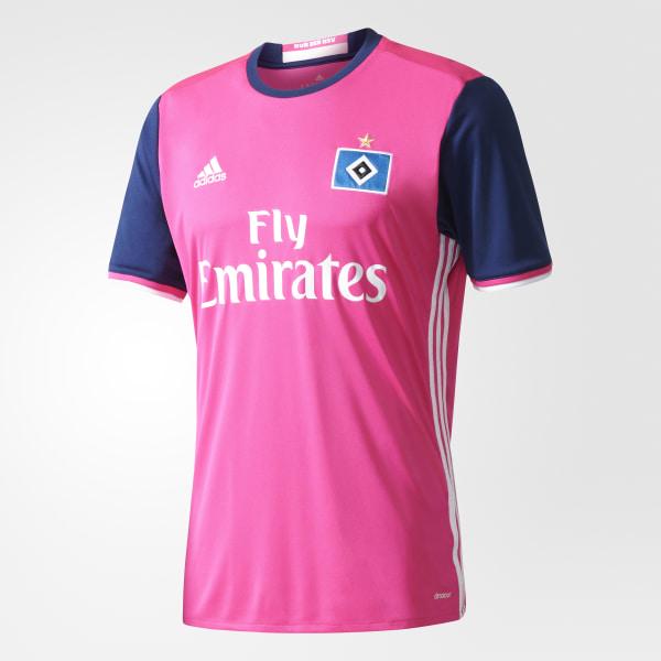 Camiseta segunda equipación Hamburgo SV Shock Pink White AH5293 2ce8461b90270