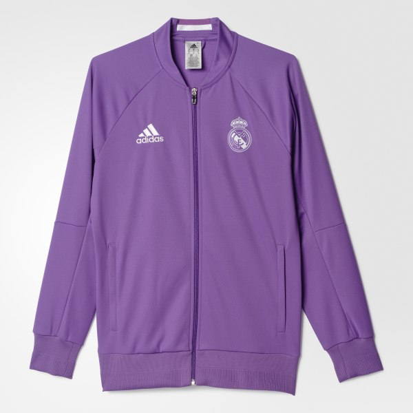 Chaqueta Segundo Uniforme Real Madrid Anthem RAY PURPLE CRYSTAL WHITE S95560 e8ebd9222b81d