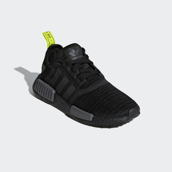 888a03ebea787 NMD R1 Shoes Core Black   Core Black   Solar Yellow F35839