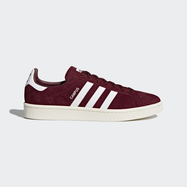 f24718160c810 Zapatilla Campus Collegiate Burgundy Footwear White Chalk White BZ0087