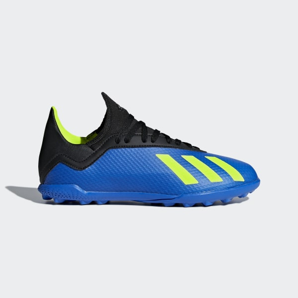 uk availability a84d1 144c7 X Tango 18.3 Turf Cleats Football Blue  Solar Yellow  Core Black DB2422