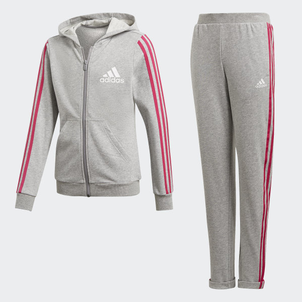 942fbb797 Fato de Treino com Capuz Medium Grey Heather   Real Magenta   White DV0839
