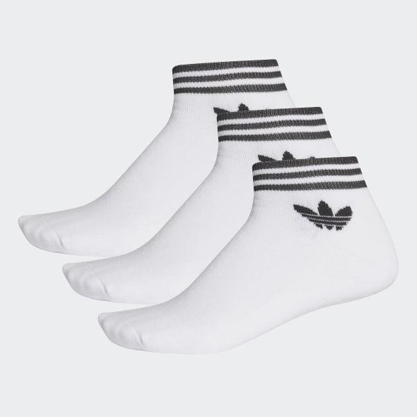0dd042394e68 adidas Trefoil Ankle Socks 3 Pairs - White