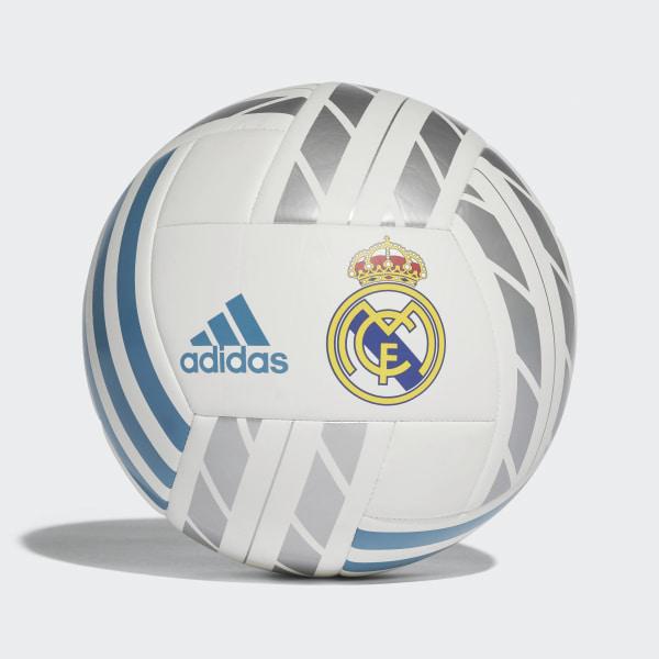 Pelota del Real Madrid WHITE VIVID TEAL S13 SILVER MET. BQ1397 b42bf28c7e340