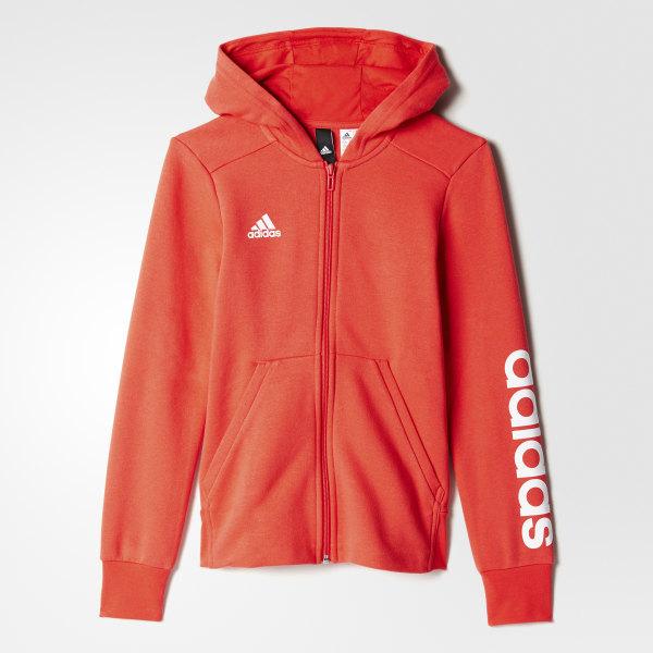 Sudadera con Gorro Essentials 3 Franjas Adidas Junior CORE PINK WHITE BP8582 ee3015081a914