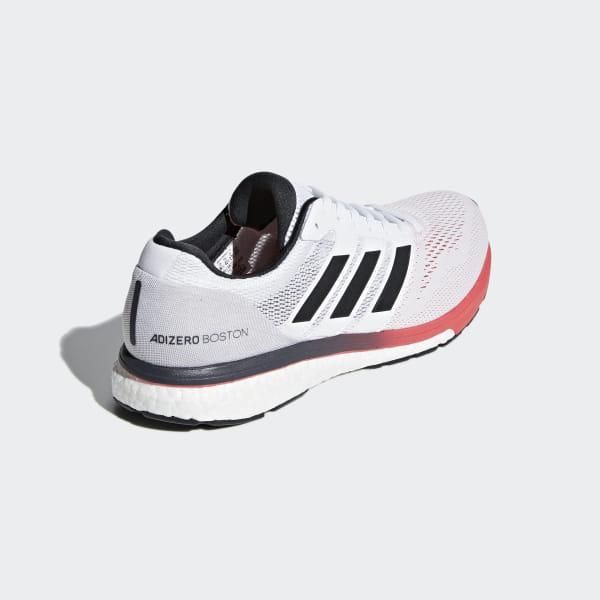 7616865dacad82 Adizero Boston 7 Shoes Ftwr White   Carbon   Shock Red B37381