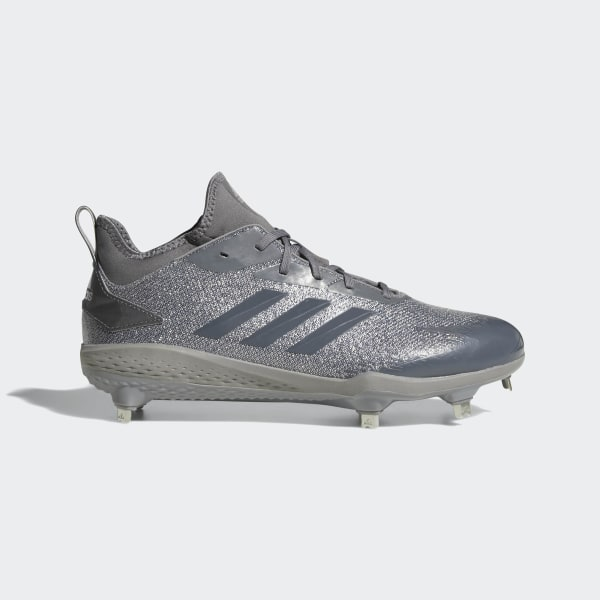 new products f7197 61bca Adizero Afterburner V Dipped Cleats Grey  Grey  Silver Metallic AQ0095