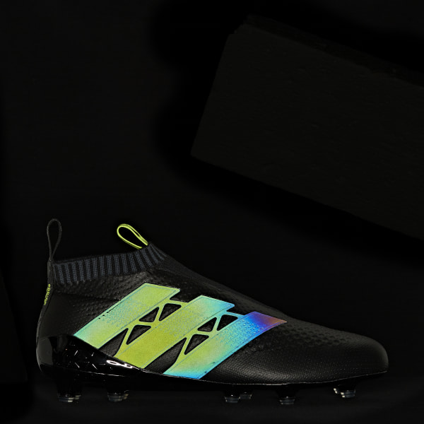 ACE 16+ Purecontrol Primeknit Firm Ground Cleats Core Black   Core Black    Solar Yellow 4b1ea089c27c