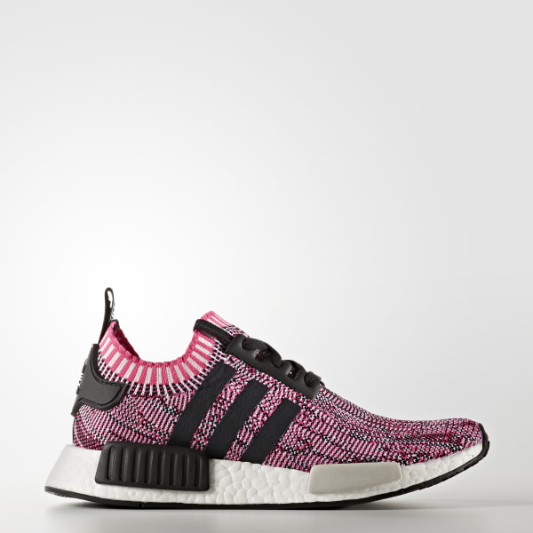 NMD R1 Shoes Shock Pink   Core Black   Cloud White BB2363 1cd8fca6a0