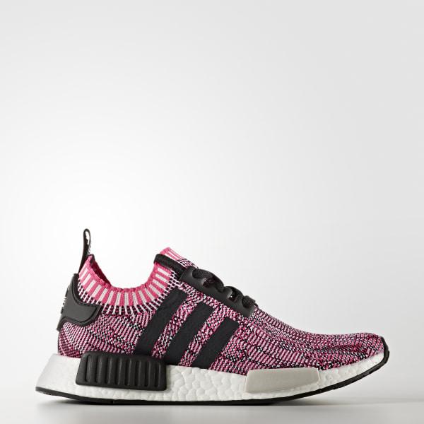 NMD R1 Shoes Shock Pink   Core Black   Cloud White BB2363 8dedc70b4