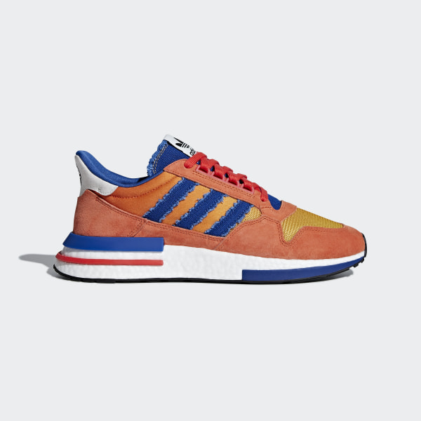 big sale 769af 8dc63 Dragonball Z ZX 500 RM Shoes Orange  Collegiate Royal  Hi-Res Red D97046