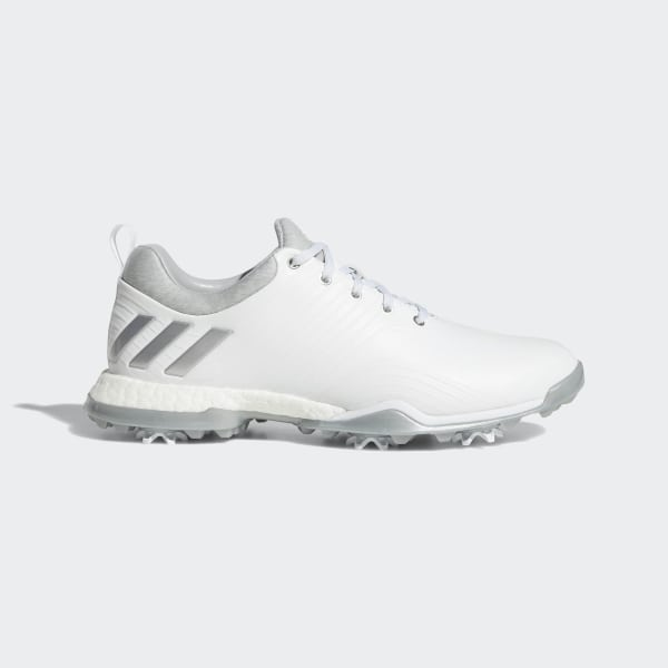 low priced 45758 6bb7d Adipower 4orged Shoes Cloud White  Silver Metallic  Clear Onix DA9740