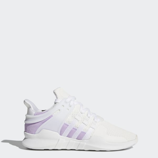size 40 e8f10 902a0 EQT Support ADV Shoes Cloud White  Cloud White  Purple Glow BY9111